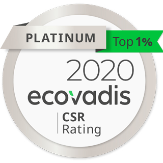 Ecovadis Gold CSR Rating 2019